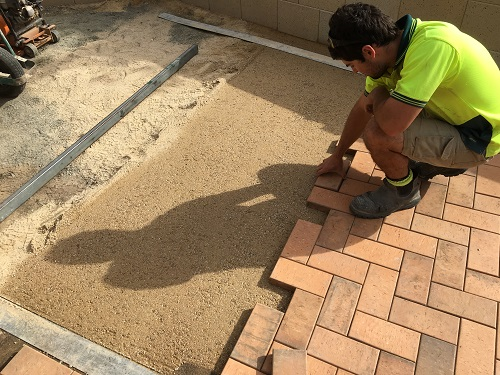 Clay Paving INstallation
